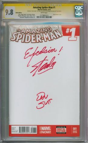 Amazing Spider-man #1 CGC 9.8 Signature Series Signed x 2 Stan Lee Excelsior Silk  Marvel comic book